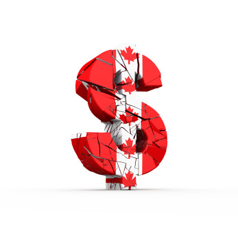 USD/CAD Canadian Dollar Lower As Producer Prices Fall