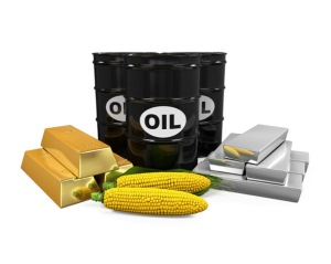 Image – Commodities Gold Silver Oil WTI Brent Copper Platinum Corn