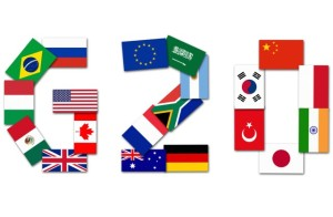 Flags of the World's Leading 20 Economies.