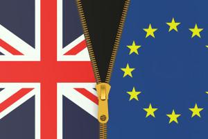 Great Britain and EU Brexit referendum concept