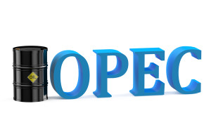 OPEC oil concept isolated on white background