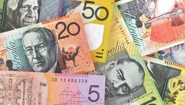 Aussie eases as wage growth equals a four-year high