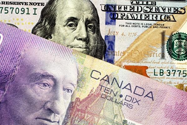 Usd Cad Canadian Dollar Higher On Us