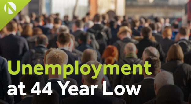 UK unemployment at 44 year low (video)