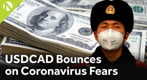 USD/CAD – Bounces on Coronavirus fears (video)