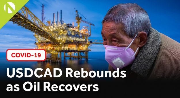 USD/CAD rebounds as oil recovers (video)
