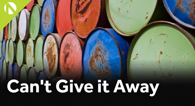 WTI crude – Can't give it away (video)