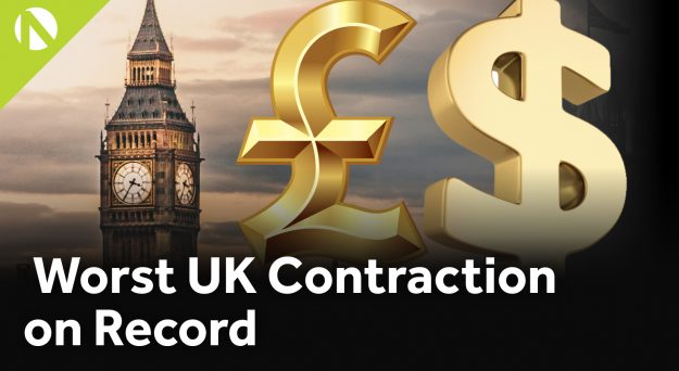 GBP/USD – Worst UK Contraction on Record (Video)