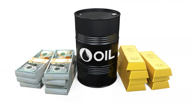 Oil stays steady, gold climbs on US yields