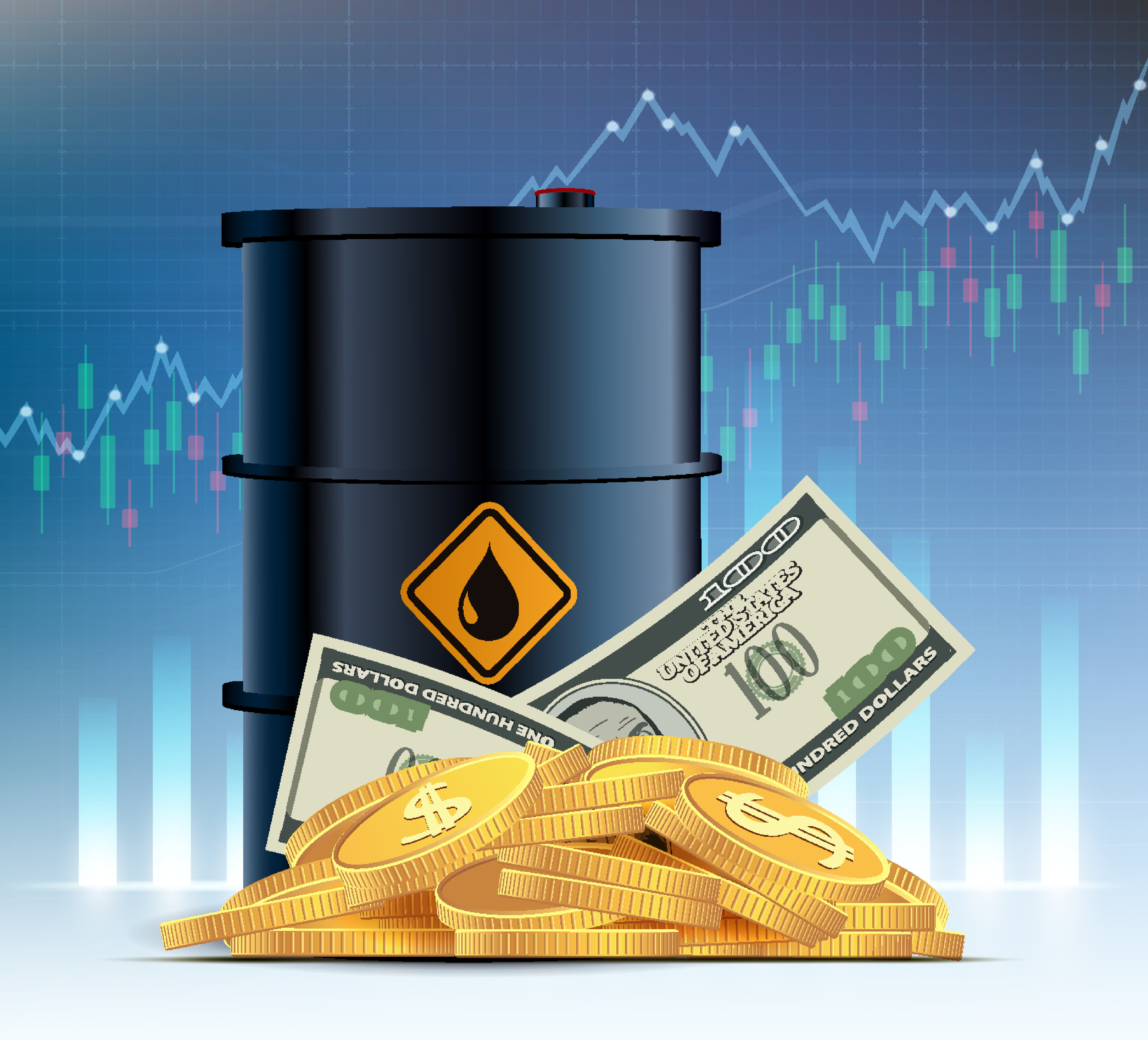 Oil steady, gold rises on higher yields