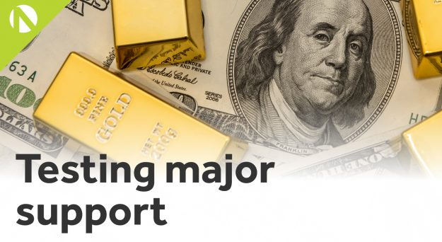 Gold – Testing major support